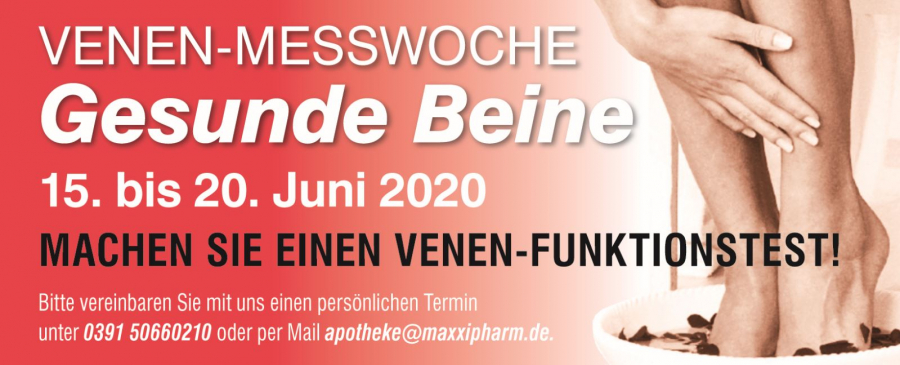 Venen-Messwoche  vom 15.06 - 20.06.2020